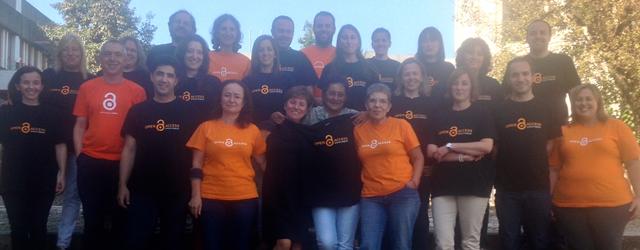 A equipa dos Serviços de Documentação da UMinho (SDUM) uniu-se e vestiu a camisola da Semana Internacional do Acesso Aberto: