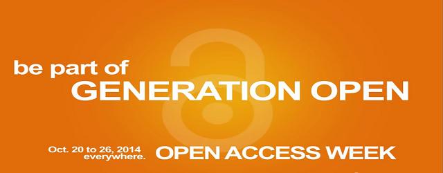 Generation Open – é o mote da Open Access Week 2014!