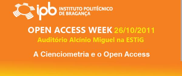 No âmbito da Semana de Open Access 2011, os Serviços de Documentação e Bibliotecas do IPB, através da Biblioteca Digital, organiza no dia 26 de Outubro, às 14h30, no Auditório […]