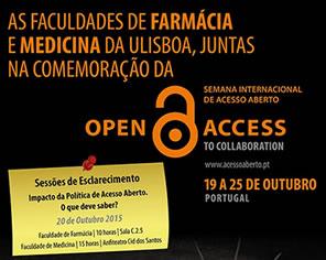 As Faculdades de Farmácia e de Medicina da ULisboa juntam-se na comemoração da Semana Internacional do Acesso Aberto, realizando 2 Sessões de Esclarecimento, no dia 20 de Outubro, sobreImpacto da […]